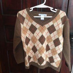 Janie & Jack Argyle sweater size 5 EUC